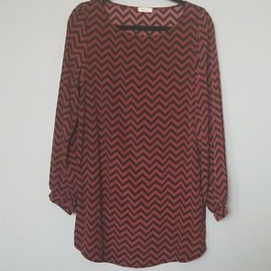 Everly long sleeve chevron dress large